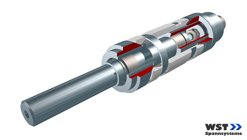 Clamping mandrel SKM - mounted on one side